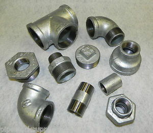 Details about GALVANISED MALLEABLE IRON PIPE FITTINGS BSP 1/8