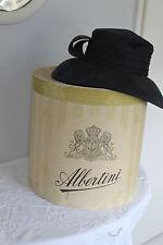 alte große ovale Hutschachtel Hutbox Shabby Chic Frankreich Brocante Weihnachten