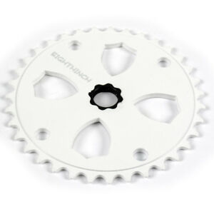 Eighthinch-48-Splined-Sprocket-Chainring-BMX-Freestyle-43t-White
