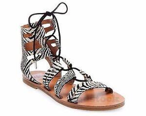 Zebra Gladiator Sandals NWOB C187 | eBay