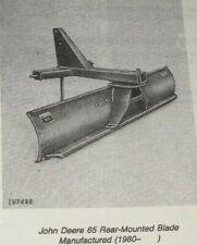 John Deere 65 Rear Mounted Tractor Blade Parts Catalog Manual Book Jd Original