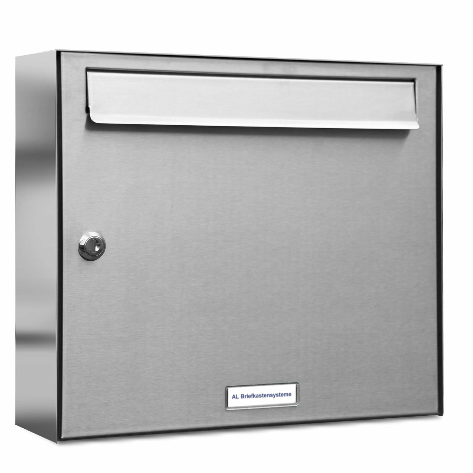 1 er Premium Edelstahl Wand Briefkasten Anlage A4 Design Postkasten
