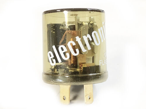 2 Pin Electronic Flasher Hazard Relay Clear Body Upgrade Fits TRIUMPH SPITFIRE