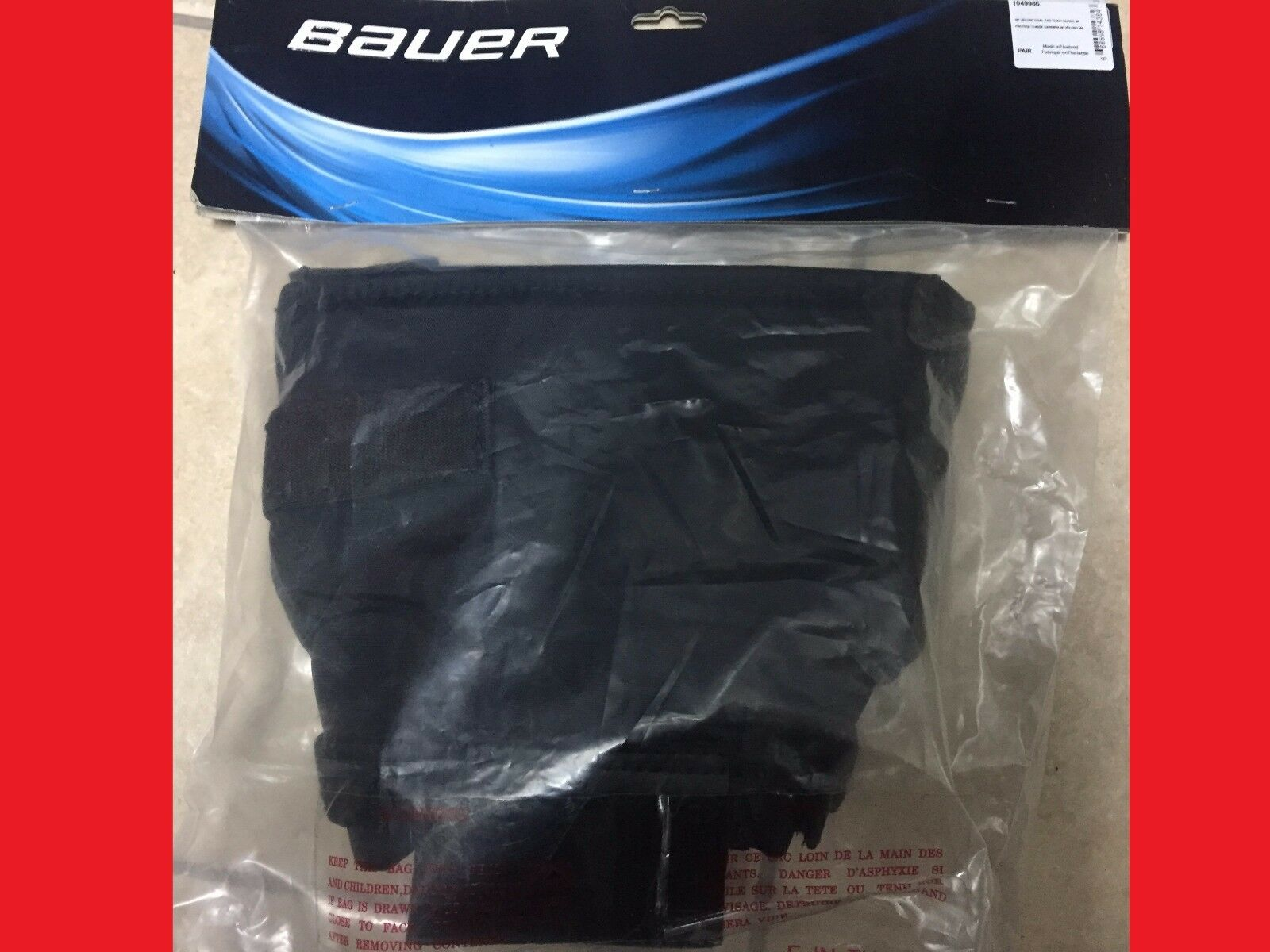 Bauer RP Goalie Leg Pad Thigh Guards  SR JR INT YTH Knee Guard Supreme Reactor