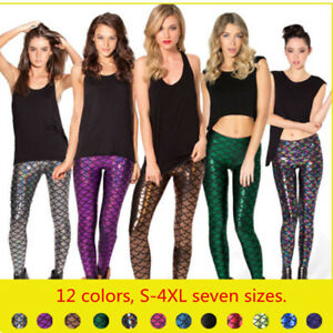 Cosplay-Sparkly-Mermaid-Dragon-Scales-Shiny-Metallic-Costume-Nine-point-Leggings