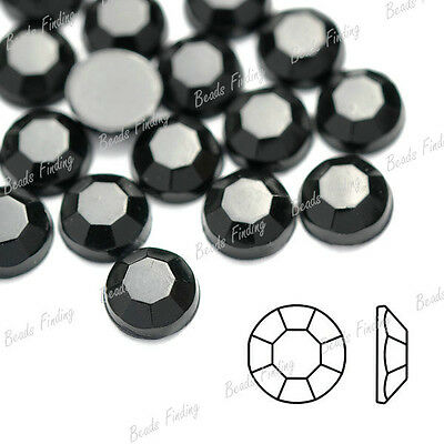 Approx 1000Pcs Crystal Faceted Round Flat Back Rhinestones FlatBack Nail Art