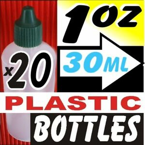 20x-1oz-Clear-Plastic-Dropper-Bottles-Caps-New-Lot-30ml