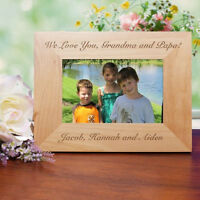 Personalized Custom Message Picture Frame Engraved Any Message Photo Frame