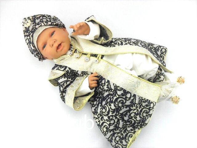 68 62 Baby Taufanzug Festanzug Mevlütlük Sünnetlik 5-tlg Weiß Gold Sehzade Gr