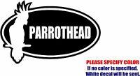 Jimmy Buffett Parrothead Decal Sticker Funny Vinyl Car Window Bumper Truck 12