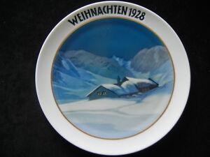 Rosenthal-Christmas-Plate-1928-Huttenweihnacht-Heinrich-Finch-Meine-No-1928-3