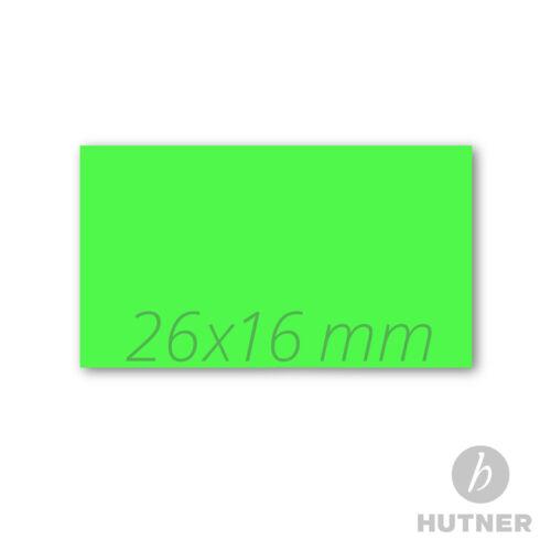 12.000 Preisauszeichner Etiketten 26x16 grün leuchtgrün
