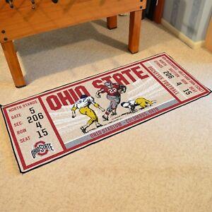 Ohio-State-Buckeyes-30-034-X-72-034-Ticket-Runner-Area-Rug-Floor-Mat