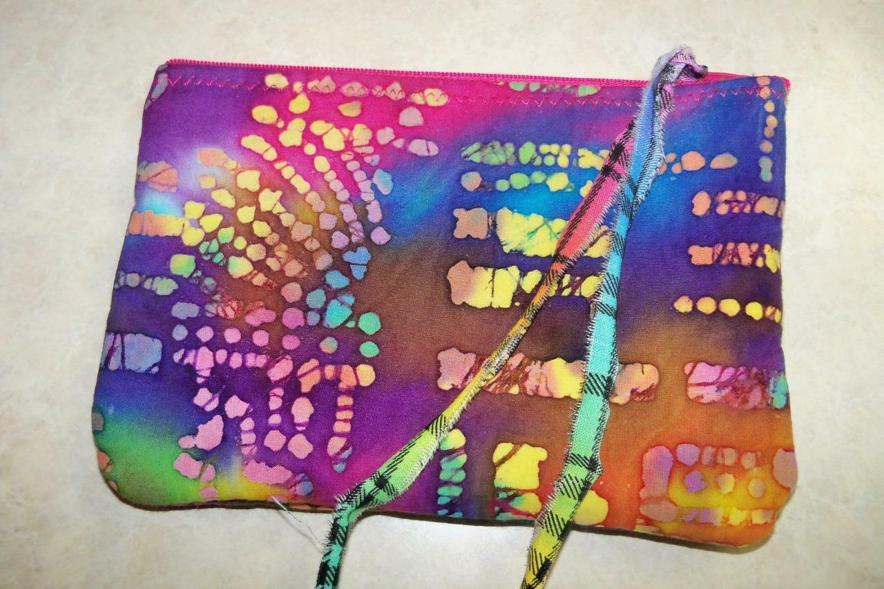 Batik Fabric Coin Change Purse Pouch Beautiful Boho Hippie Style
