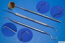 3er Set Zahnsonde Zahnreiniger mit Mundspiegel Nr.6 ,Profi Qualität