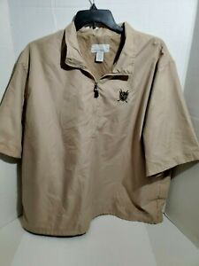 North-End-Mens-XL-Short-Sleeve-Golf-Jacket-Pull-Over-Wind-Breaker-Zip-Collar