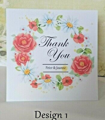 Music Thank You Cards Pack of 4 with Envelopes 9