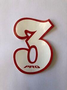 NOS PRO BMX Motocross number plate number 3 Black//Red vintage oldschool