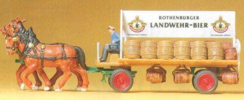 H0 Preiser 30462 Brauereiwagen.Fertigmodell.Zubehör OVP