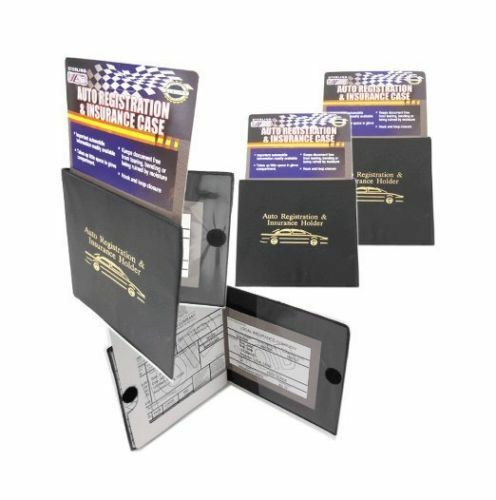 5 Auto Car Truck Registration And Insurance Case Document Holder Wallet Folder