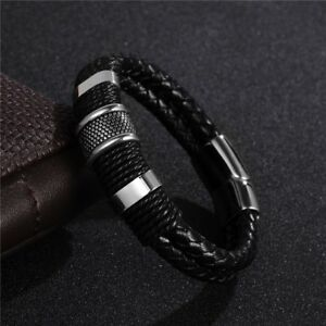 Pulsera-de-cuero-trenzado-para-hombres-magnetica-de-acero-inoxidable-regalo