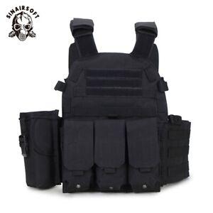 Military-Vest-Tactical-Plate-Carrier-Molle-Airsoft-SWAT-Combat-Assault-Gear-Mens
