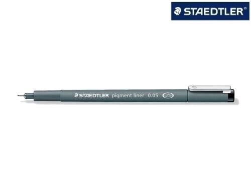 3x Staedtler 308 Pigment-Liner 0,05mm schwarz Fineliner Zeichenstift Faserstift