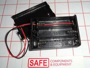 Battery Holder 3 x AA Cells Case Box w//Connecting wires Total = 4.5 VDC