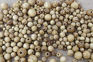 Round-Burly-Natural-Wooden-Beads-6mm-20mm-BUY-3-GET-3-FREE
