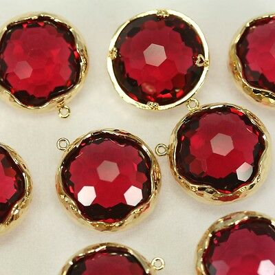 Bezel Setting Pendant Metal Beads Framed Glass Charm Earrings Findings FG-017