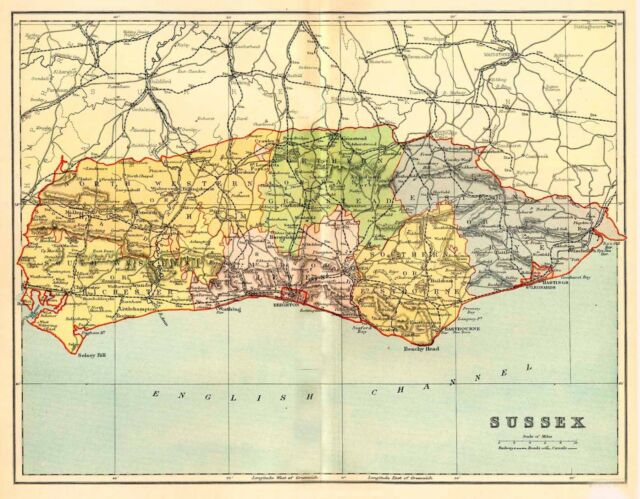 Map Of The County Of Durham England C1850 Ebay