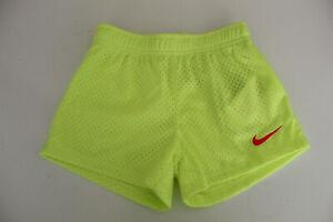 Girl-039-s-Nike-Mesh-Shorts-Size-6-Neon-Yellow-Pink-Swish-Mark-Kids-5-8-Years-New
