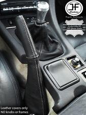 INGRANAGGIO in Pelle Bianco Stitch Ghetta Freno a Mano Completo per Mitsubishi GTO 3000GT 90-01