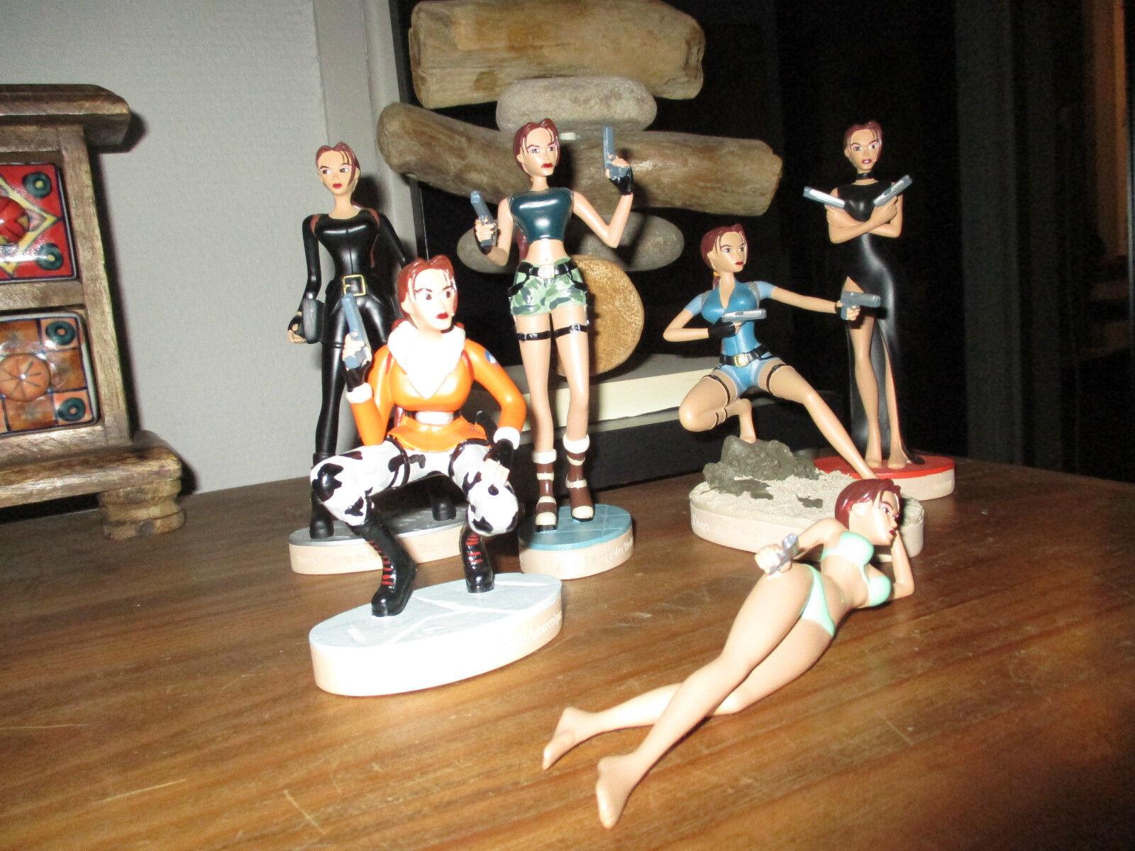 Vente Lara croft-Lot statuettes Lara-Résine-comme neuves