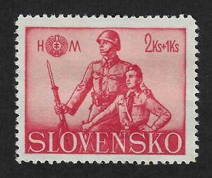 Slovakia-1942-Hlinka-Youth-Society-2-1K-Stamp-CX6