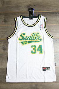 sports shoes 389b2 07743 Details about Ray Allen #34 Seattle SuperSonics White Throwback Swingman  Classics Mens Jersey