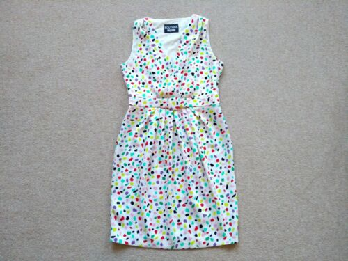 46it senza crepe stampa Moschino in Sz 14uk confetti Boutique abito Designer maniche AntqPwOA8