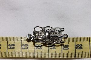 14x32-5mm-Dragon-Head-Box-Clasp-Brass-Platinum-Color-2-Clasps
