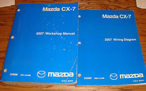 Original 2007 Mazda CX-7 Shop Service Manual + Wiring Diagram Set 07 on 1991 mazda protege wiring, mazda protege trunk wiring, 1997 mazda millenia bose amp wiring,