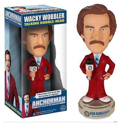 Anchorman Ron Burgundy Talking Wacky Wobbler Figure Bobble Head