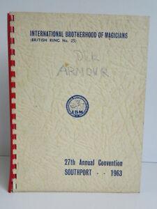 Program I. B.M International Brotherhood Of Magicians 1963 Convention