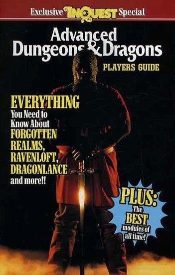 ADVANCED DUNGEONS DRAGONS PLAYERS GUIDE  EXC+  INQUEST D&D TSR Handbook D&D AD&D