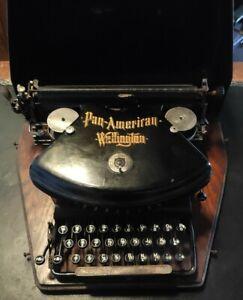 EARLY 1900'S PAN AMERICAN WELLINGTON TYPEWRITER! RARE.
