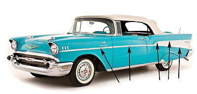 1956 Chevy Bel Air 2 Door Door Molding Clip Set  L /& R