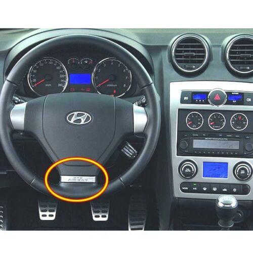 Steering Wheel ORNAMENT 1EA SILVER For 2003-2008 Hyundai Tiburon Coupe