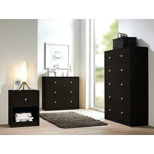 3 Piece Brown Drawer Dresser Chest Nightstand Set Home Living Bedroom  Furniture