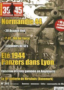 39-45 N°302 Panzers Dans Lyon / 30 Assault Unit / 10e Batterie De Hirtshals Facile à Lubrifier