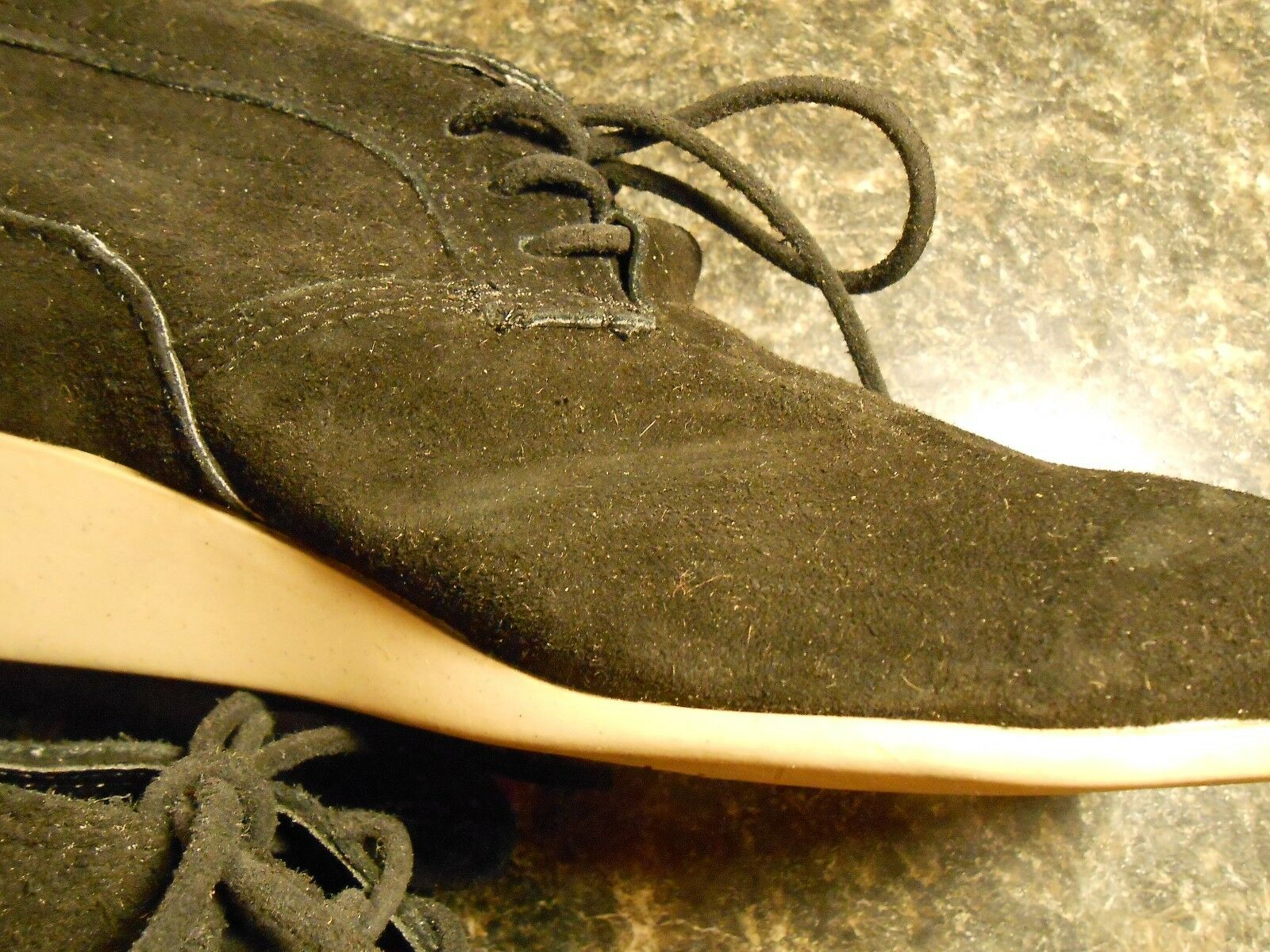 Oliberte schwarz suede Malawa leather oxford schuhe schuhe schuhe wedges display sz 7M New no box a3e559