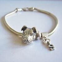 Pit Bull Initial European-style Bracelet - Free Shipping