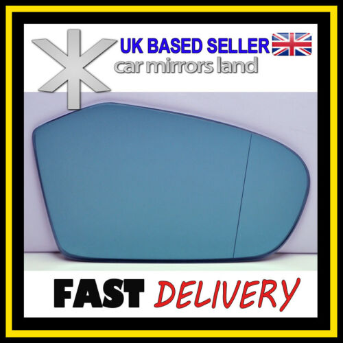 RIGHT Driver Side Wing Mirror Glass Mercedes W169 A-Class 04-08 ASPHERIC BLUE
